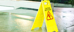 εικόνα caution wet floor, 255 x 110 pixels