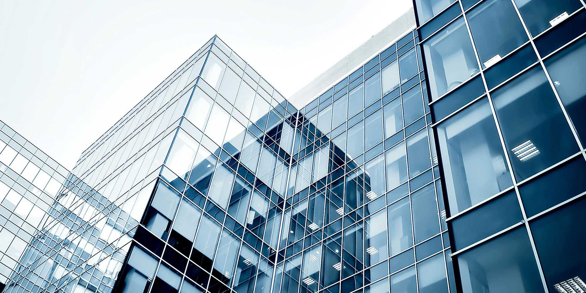 έγχρωμη εικόνα γυάλινου κτιρίου, 2000 x 1000 pixels
