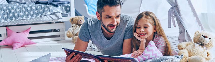 εικόνα πατέρα με κόρη από τη σελίδα ασφάλιση κατοικίας home made της generali