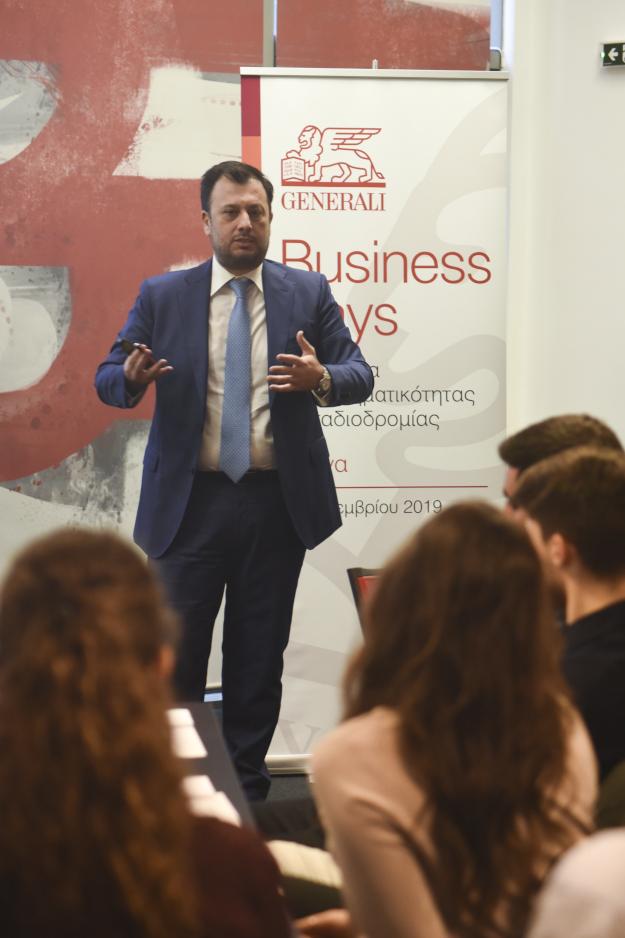 Ο Chief Technical Manager κ. Τάκης Βασιλόπουλος κατά την παρουσίαση του workshop